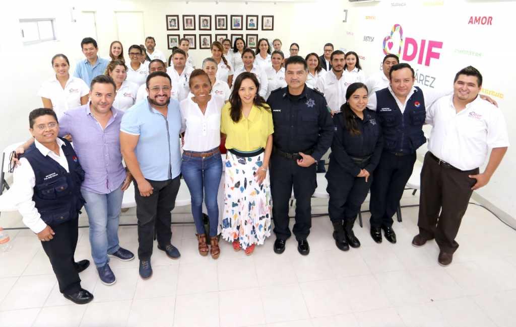 Personal del DIF Benito Juárez recibe capacitación de la SSP 2