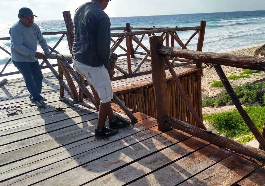 Zofemat inicia mantenimiento en miradores de la zona oriente de Cozumel