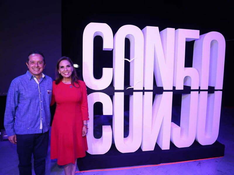 Mara Lezama revela logotipo oficial del 50 aniversario de Cancún