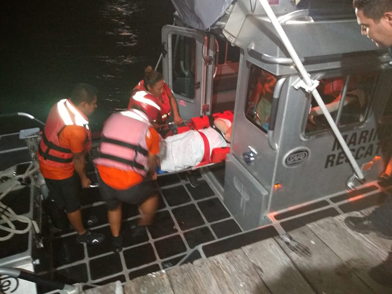 Traslada Marina a hospital a pasajero de crucero con sangrado interno