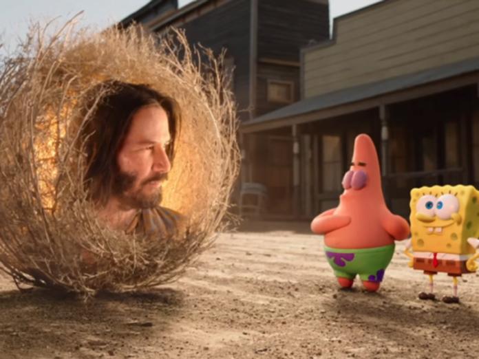 Keanu Reeves y su relación con la nueva película de Bob Esponja
