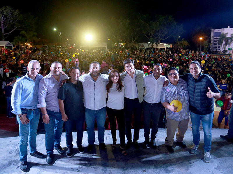 Llevan el 'Festival Navideño para Todos' a Bonfil