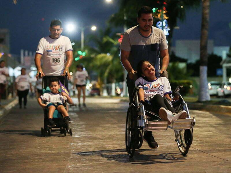 Se realiza la carrera 'Todos Unidos por la Discapacidad' en Cozumel