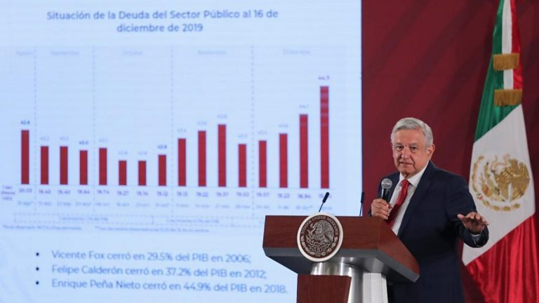 AMLO asegura que Peña Nieto dejó endeudado a México