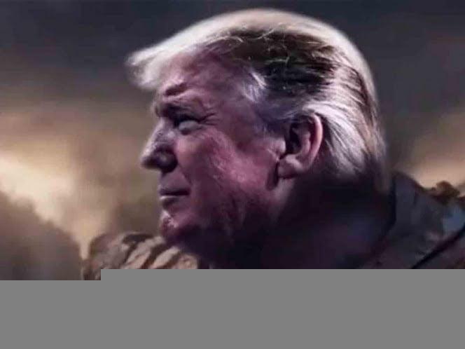 Otra vez, Trump usa la imagen de Thanos para su campaña electoral