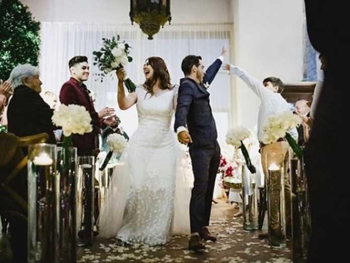 Yuridia y Matías Aranda, se casaron después de 10 años de noviazgo