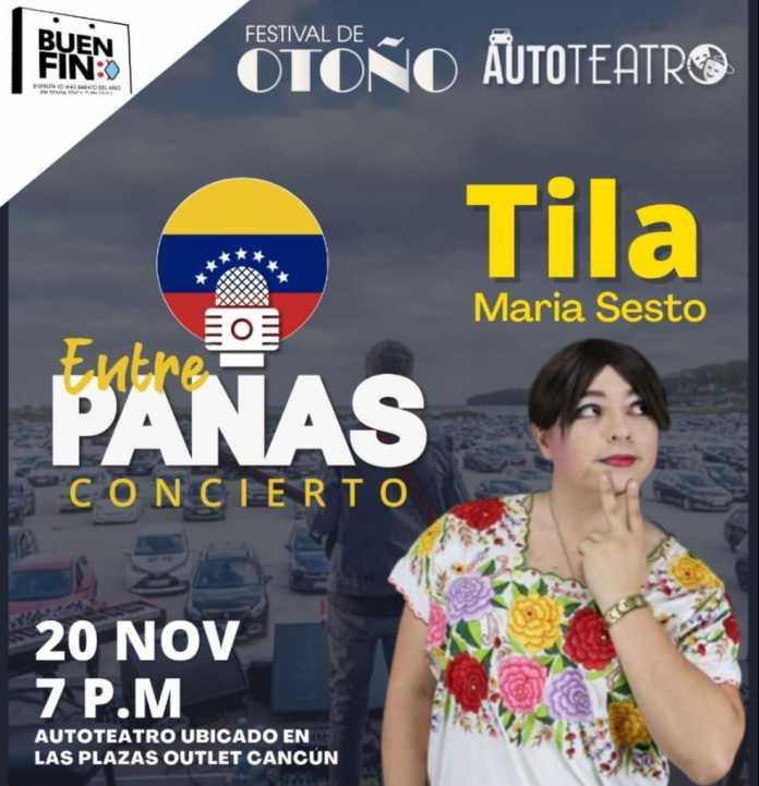 'Entre Panas concierto' presenta autoteatro con Tila María Sesto